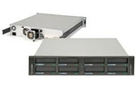 RDX QuikStation: 8 drive RDX, 2U rack, 4 GbE iSCSI-attached Removable Disk Library