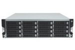 TrioNAS LX U300 NAS/iSCSI, 7x1GbE + 2x10GbE RJ45, 3U 16 bay, diskless, redundant power